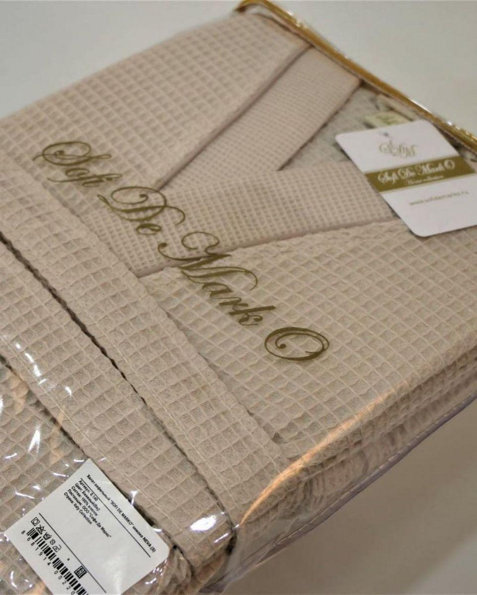 вафельный халат, выполненный из 100% хлопка