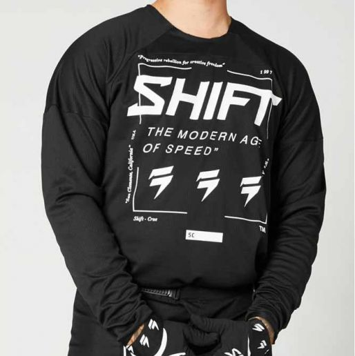 Shift White Label Bliss Black/White джерси для мотокросса