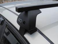 Багажник на крышу Toyota Hilux, Евродеталь, стальные прямоугольные дуги
