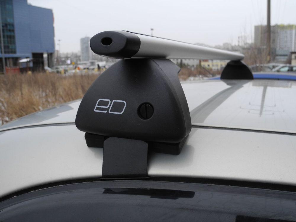 Багажник на крышу Toyota Hilux, Евродеталь, аэродинамические дуги