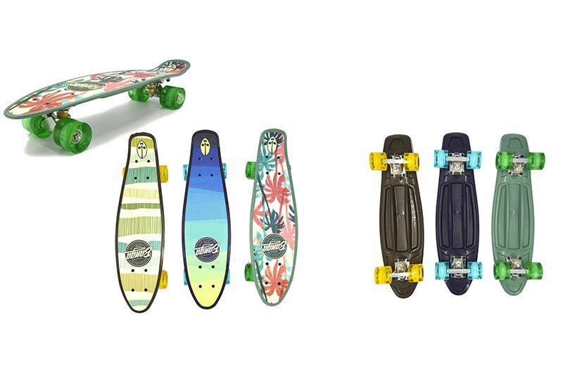 Скейтборд круизер 24 дюйма / 61 см. со светящимися колесами Гавайи Banga