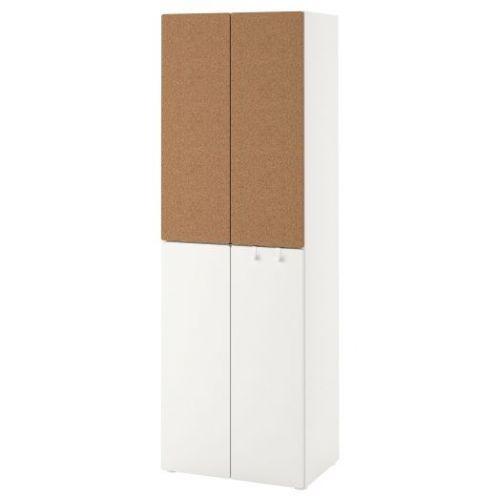 SMASTAD СМОСТАД, Гардероб, белый пробка/с 2 платяными штангами, 60x42x181 см - 493.964.10