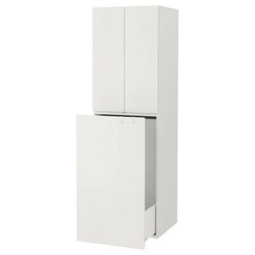 SMASTAD СМОСТАД, Гардероб с выдвижным модулем, белый белый/с платяной штангой, 60x57x196 см - 093.932.96