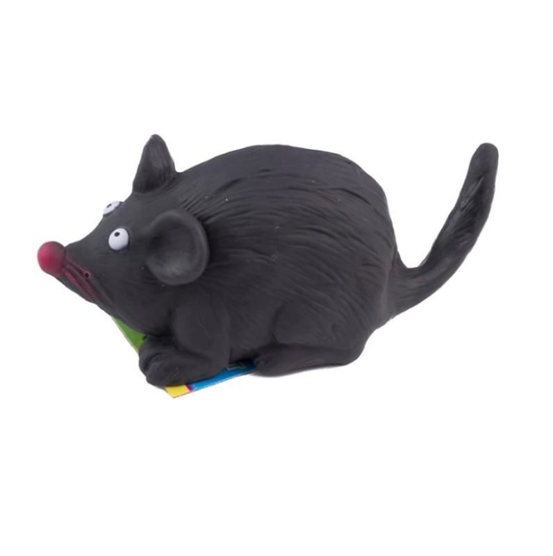 Виниловая игрушка-пищалка для собак Испуганная Мышка, 15 см