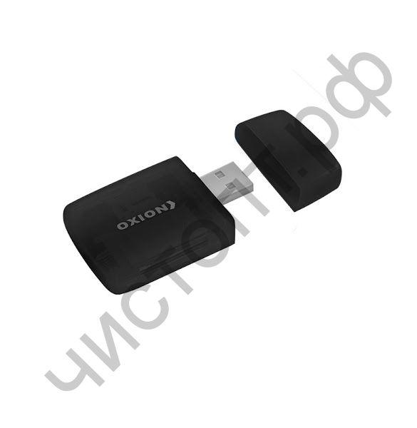 Картридер OXION OCR002BK, чёрный, USB 2.0 (SD,SDHC,RS MMC,Micro SD,M2,MS PRO Duo,Mini sd до 64 Гб)
