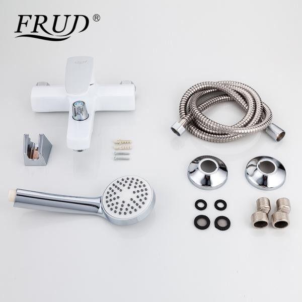 Белый смеситель для ванны Frud R32301
