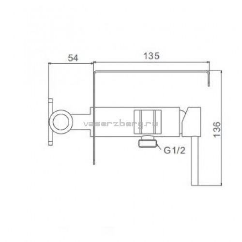 Гигиенический душ с полкой Frap F7516