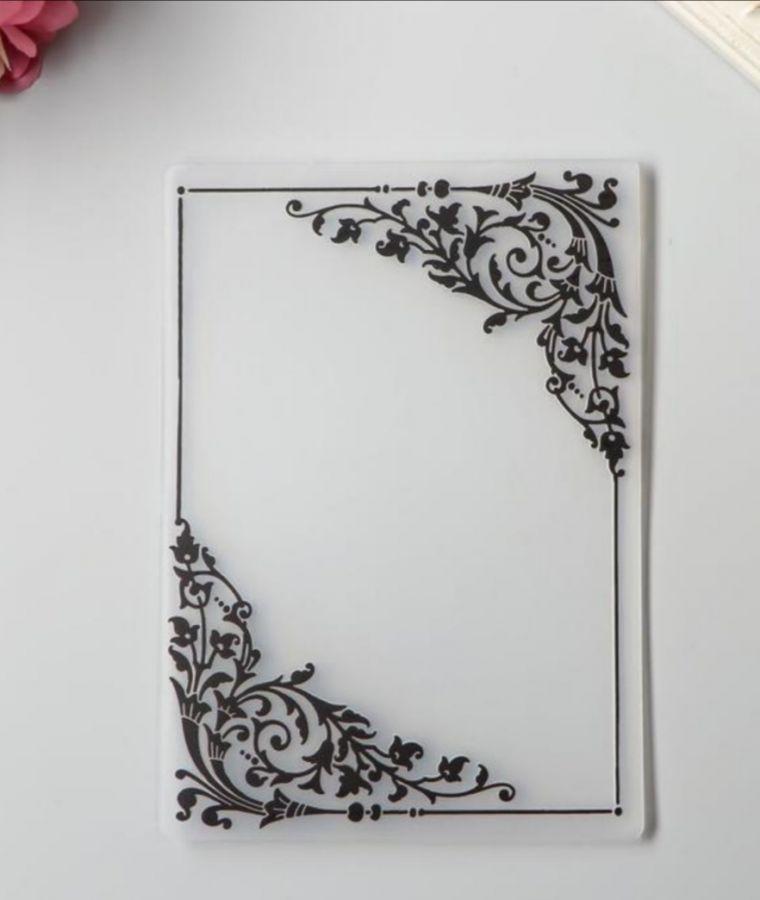 Штамп силиконовый Рамка с уголками