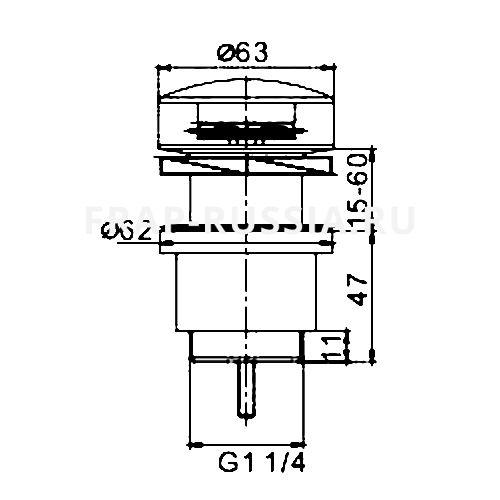 Гидрозатвор для раковины Frap F62