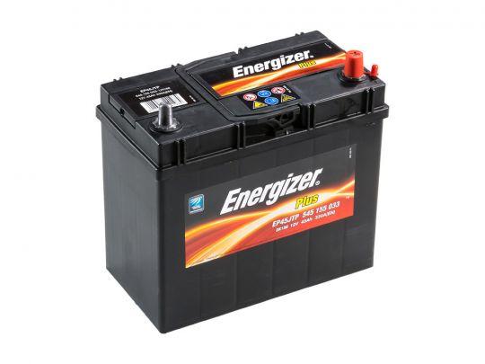 Автомобильный аккумулятор АКБ Energizer (Энерджайзер) PLUS EP45JTP 545 155 033 45Ач о.п. узкие клеммы