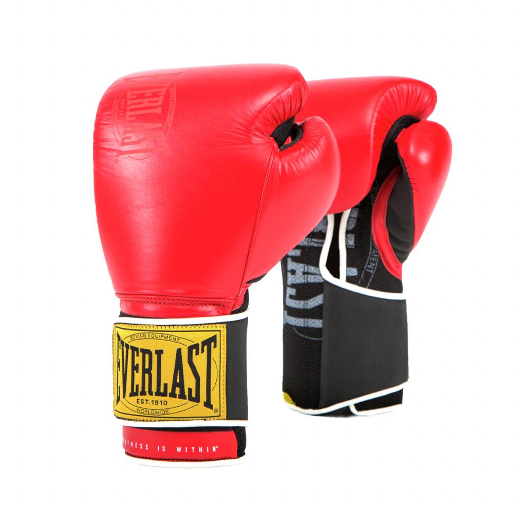 Перчатки тренировочные Everlast  1910 Classic 12oz красные, артикул P00001706