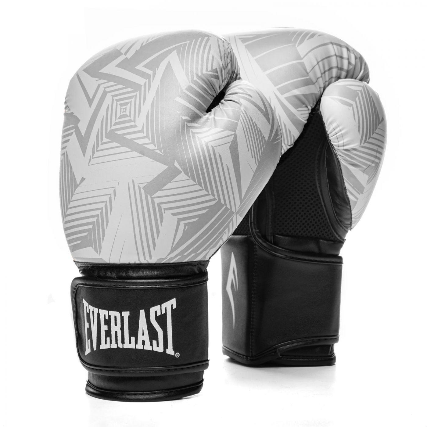 Перчатки тренировочные Everlast  Spark 14oz бел/гео, артикул P00002411