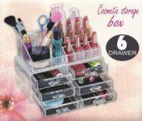 Акриловый органайзер для косметики Cosmetic Storage Box, 6 ящичков (2)