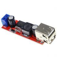 Зарядный модуль 12V-5V, 2 зарядных USB порта
