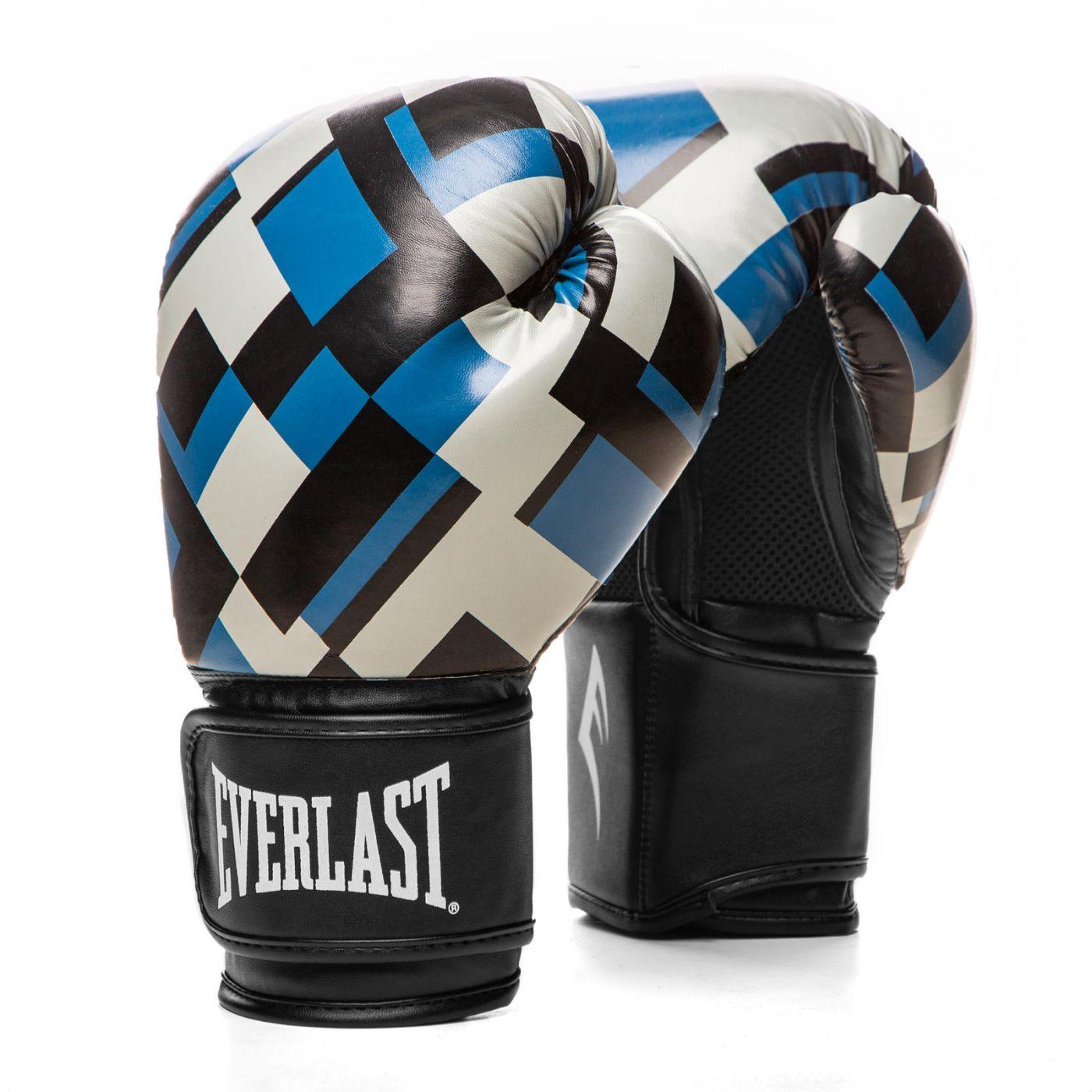 Перчатки тренировочные Everlast  Spark 12oz синие/клетка, артикул P00002422