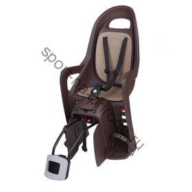 Заднее велокресло Polisport Groovy RS Plus коричневый/бежевый