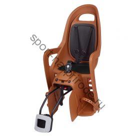 Заднее велокресло Polisport Groovy RS Plus темно-оранжевый/черный