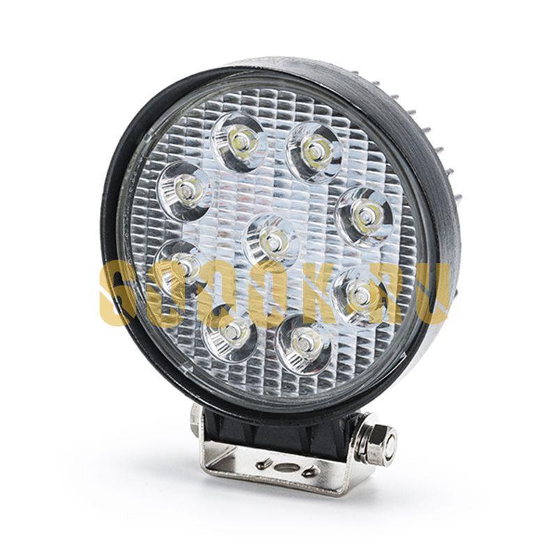LED Фара 9 диодов 27 ватт ближнего света Epistar круглая