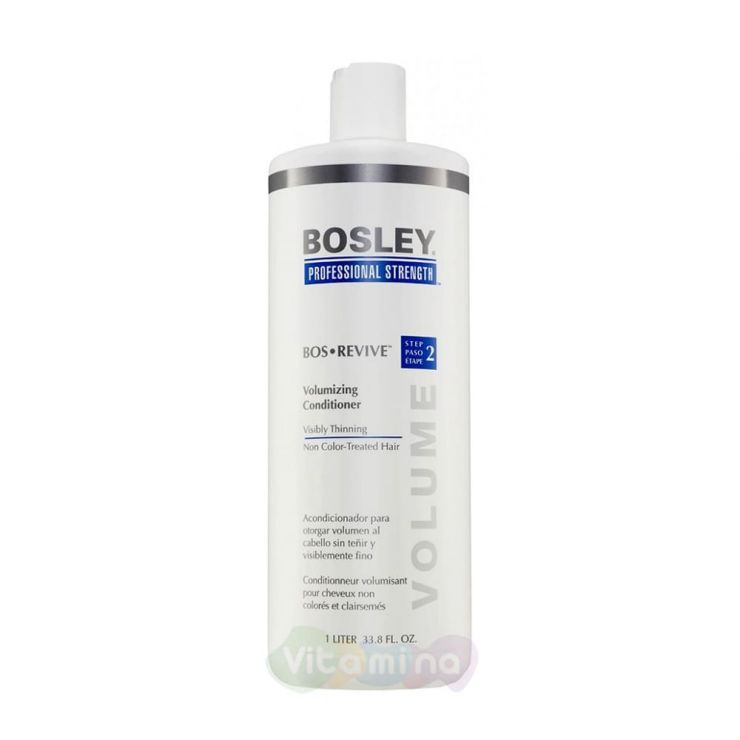 BOSLEY Кондиционер для объема истонченных неокрашенных волос ВОS REVIVE (STEP 2) VOLUMIZING СONDITIONER VISIBLY THINNING NON COLOR-TREATED HAIR