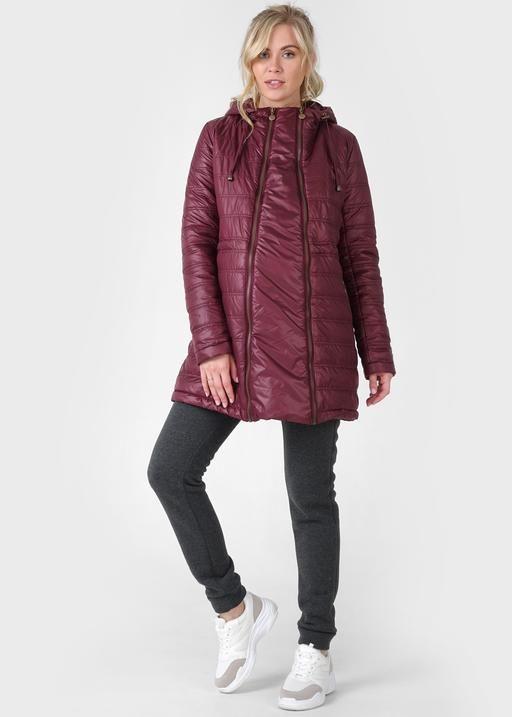 """Куртка демис. 3в1 """"Митчел"""" для беременных и слингоношения; цвет: бургундия"""