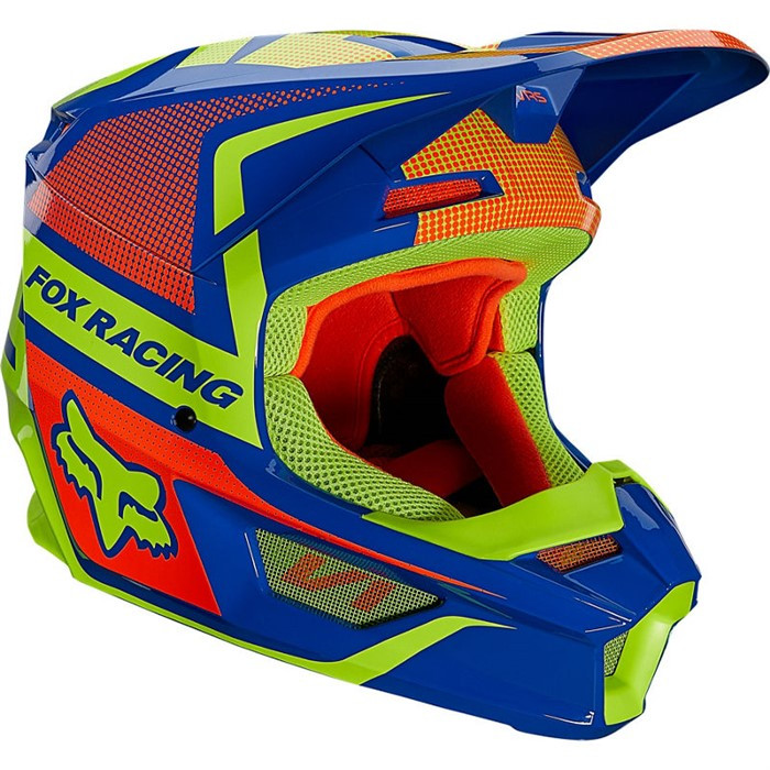 FOX Мотошлем V1 Oktiv Youth Helmet, цвет Синий