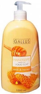 Gallus Жидкое мыло для рук Молоко и Мёд 1000 мл