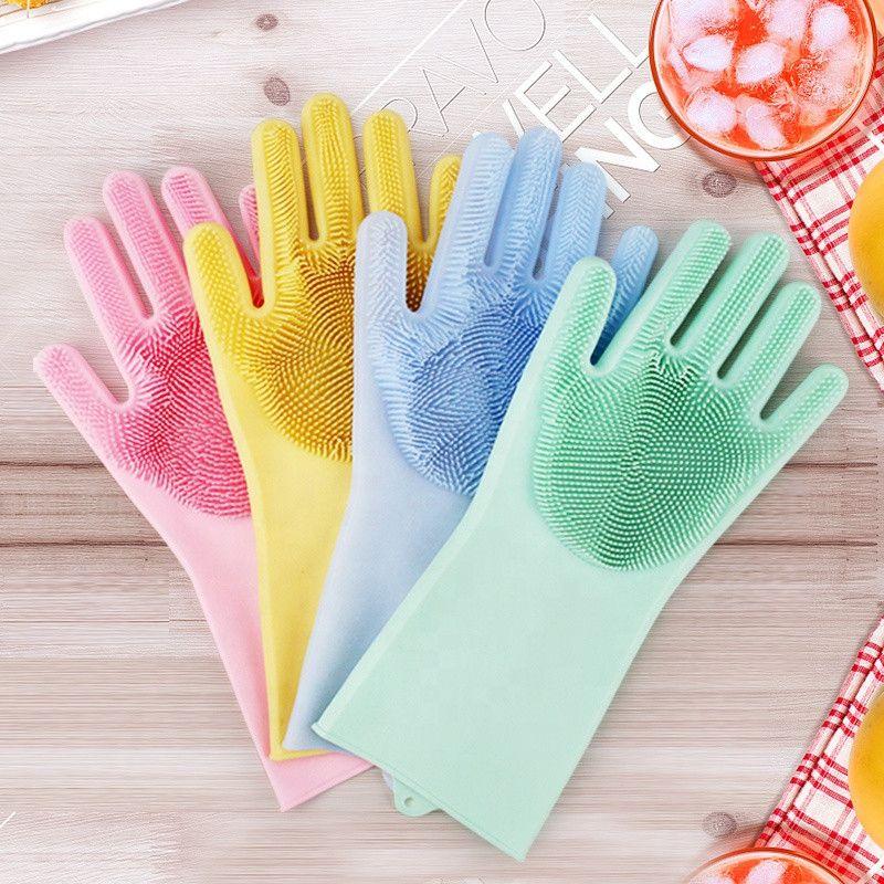 Многофункциональные силиконовые перчатки Magic Brush
