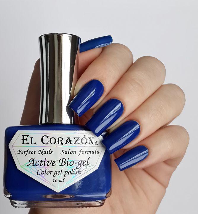 El Corazon Active Bio-gel Color gel polish 423/271 Cream-271-Ярко-синий 16мл
