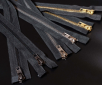"""Молния курточная,  т.8 """"JX"""" металл, с двумя бегунками, черная, 80 см"""