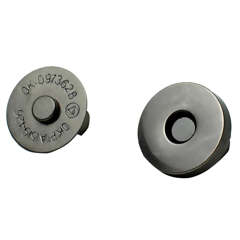 Магнитная кнопка 18 мм черный никель