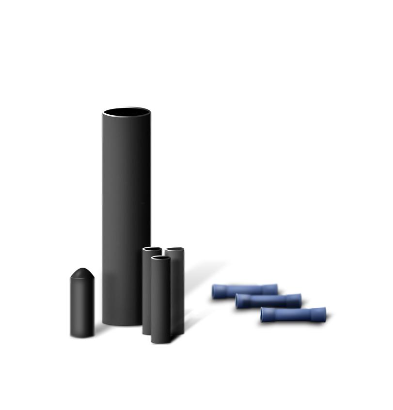 Комплект муфт с концевой заглушкой для монтажа кабеля внутри трубы