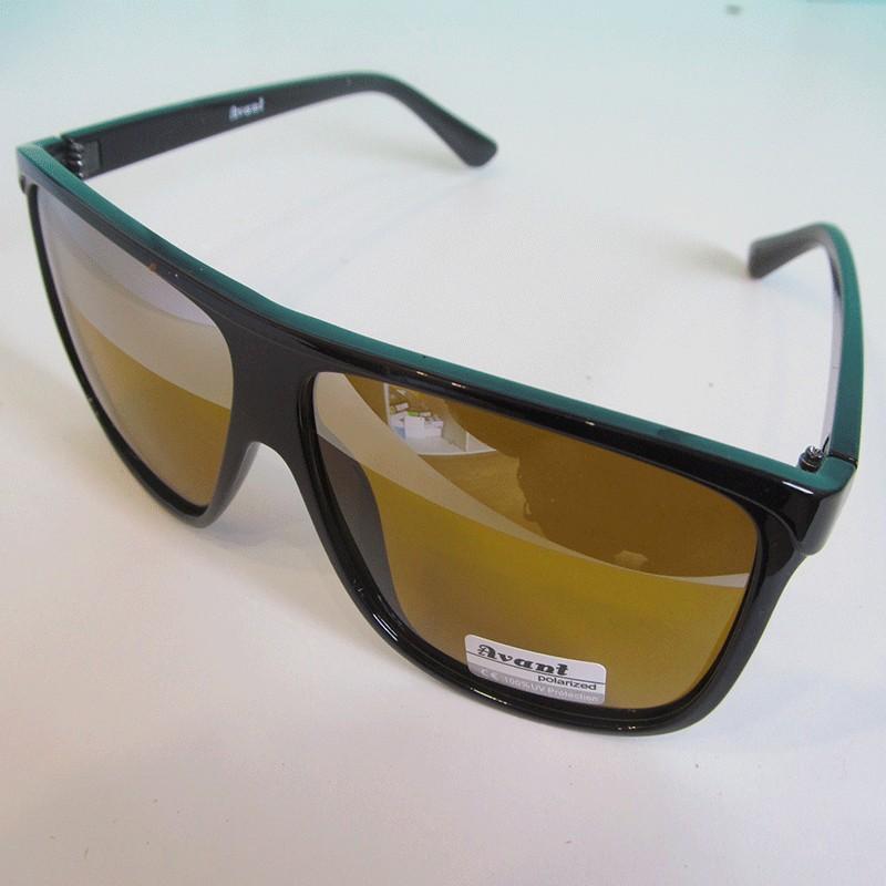 Очки для водителей. Антифары Avant Polarized (антиблик, полароид, УФ-фильтр, с зеркальной полосой)