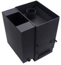 """Банная печь """"Копеечка"""" 15 укороченная с навесным баком 31 л."""