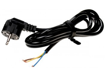 Вилка с кабелем 2 метра ПВС 3*1,0 (для саморегулирующегося кабеля)
