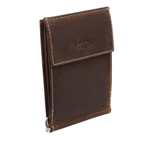 Кожаный зажим для денег Klondike Yukon, коричневый