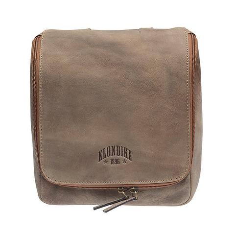 Подвесной кожаный несессер Klondike Blake, коричневый