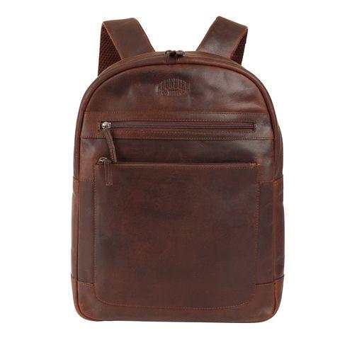 Кожаный рюкзак из воловьей кожи Klondike Digger Sade, темно-коричневый