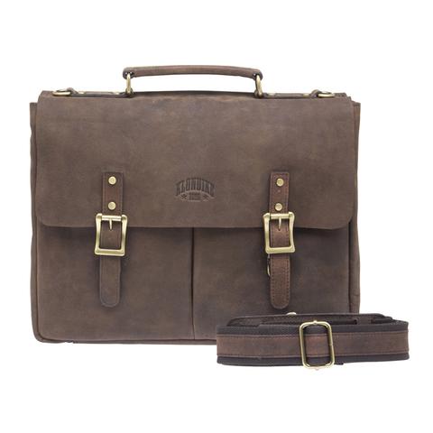 Кожаный мужской портфель Klondike Barry, коричневый