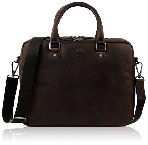 Кожаная деловая сумка Klondike Digger Earl, темно-коричневая
