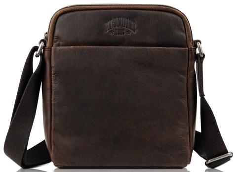 Кожаная сумка через плечо Klondike Digger Jake, темно-коричневая