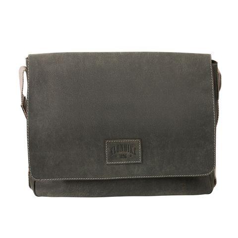 Кожаная мужская сумка-мессенджер Klondike Native, черная