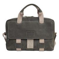 Наплечная кожаная мужская сумка Klondike Native, черная