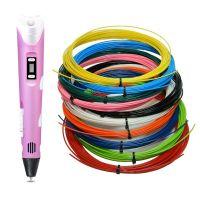 3D ручка с набором пластика 10 цветов по 10 метров, Розовый