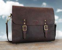 Кожаная сумка-мессенджер Klondike Brett, коричневая