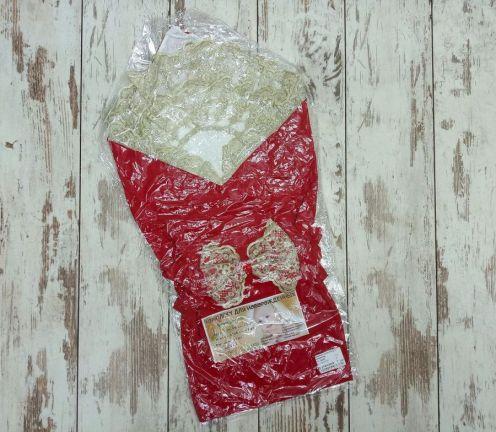 Комплект на выписку 5 пред. барби, цвет красный 5-KM004-BB