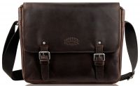 Кожаная мужская сумка-мессенджер Klondike Digger Joe, темно-коричневая