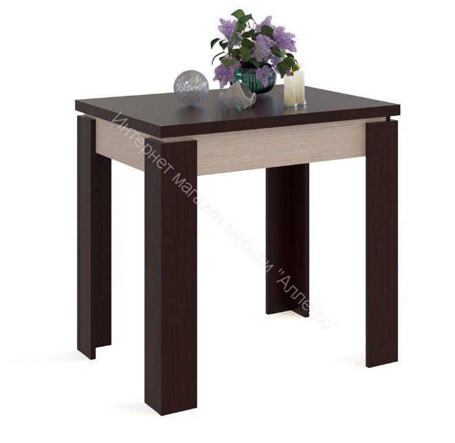 """Кухонный стол """"СО-1"""" раскладной Беленый дуб/Венге"""