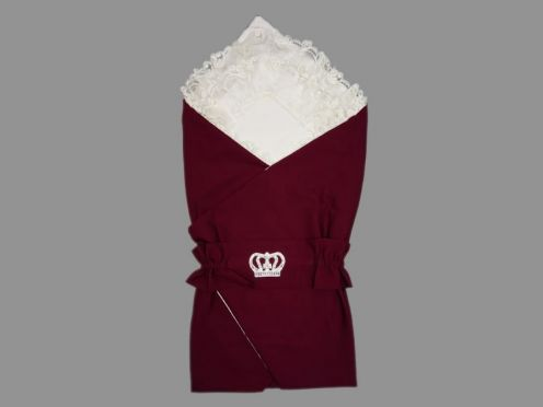 Комплект на выписку 5 пред. барби, цвет бордовый, корона 5-KM004-BB
