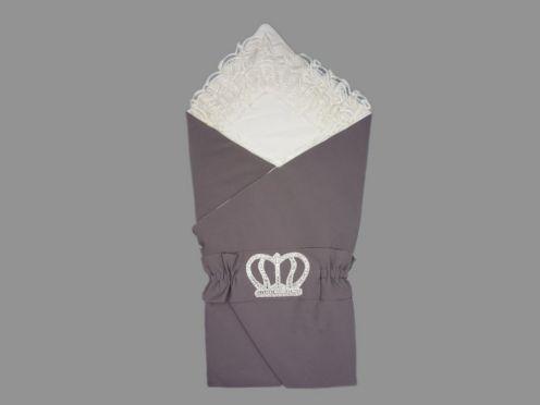 Комплект на выписку 5 пред. барби, цвет серый, корона 5-KM004-BB