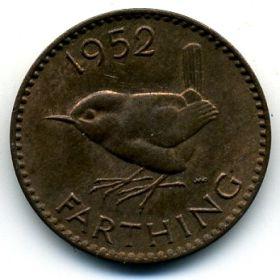 Великобритания 1 фартинг 1952